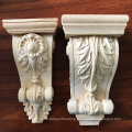 Decorative carved craft wood floral roman corbel