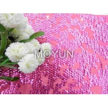 CHIFFON WITH 7MM CUP SEQUIN EMBROIDERY 50 52""
