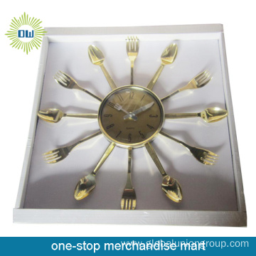 Fancy Pleastic Kitchen Wall Clock