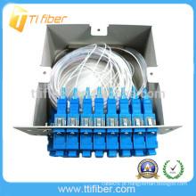 Fibra óptica divisor PLC módulo inserindo tipo