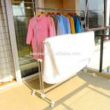 Baoyouni balcony movable clothe drying rack with casters DQ-0033B