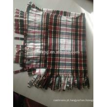 Poncho de verificação de lã de moda
