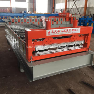Genteng Metal Tile Panel Sheet Roll Forming Machine