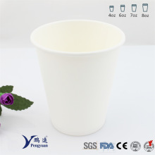 20cl Recyclable Plain White Bakery Einzelne Wand Papier Cups