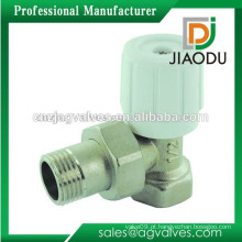Válvula do radiador do bronze de JD-4433 / válvula de radiador do ângulo