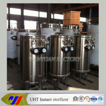 Máquina de Uht de esterilización de leche de acero inoxidable