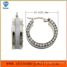 Shineme Fashion Jewelry Pendiente de acero inoxidable con CZ (ERS6951)