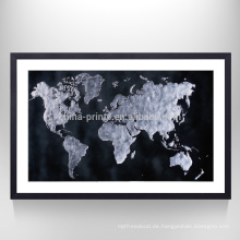 Stretched Chinese Map Print Home Decor Karte Kunst Leinwand bereit, an der Wand zu hängen