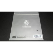 Matte surface plastic bag with logo and ziplock seal