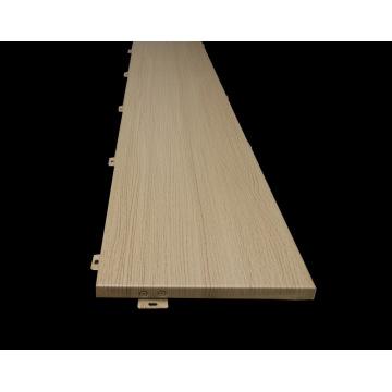 Paneles de techo de aluminio de grano de madera para decoración interna