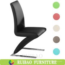 Mobiliário moderno de sala de jantar de baixo preço Cadeira de jantar de couro em forma de Z