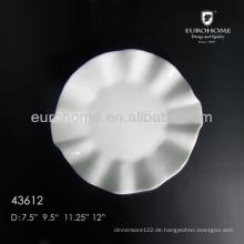 8inch, 10inch, 12inch, 14-Zoll-Hotel und & Restaurant Keramik-Ebene weiße Platten