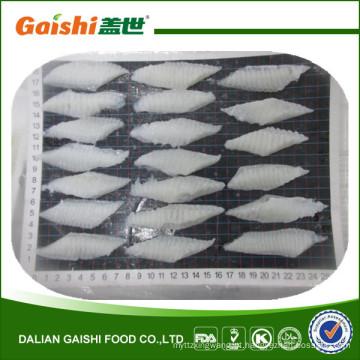 China novo produto congelado frutos do mar alaska águas peixe seta solha babado fatia para sushi japonês sashimi