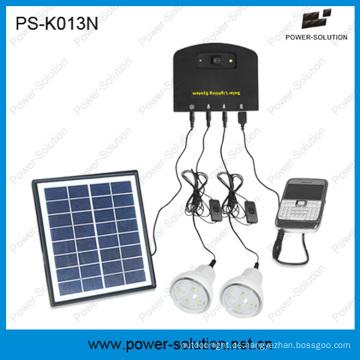 Mini Home Solar System mit mobilem Ladegerät mit 2 Glühbirnen, Handy-Ladegerät