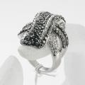 Weave Ring Jewelry Nickel Free rhodium Plating Rhinestone high quality Crystal women finger ring wholesale