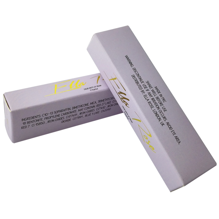 Cute Purple Gold Foil Folding Lipstick Packaging