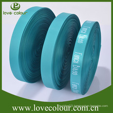 Fashionable single side printing satin ribbon with custom logo
