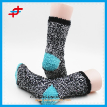 Новый стиль микрофибры дамы полосой теплый уютный иглы носки