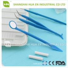 Equipo de Instrumentos de Composición Médica Desechable Salible en caliente Dental Tres Kits Dos Piezas Cinco Juegos con Alta Calidad
