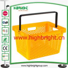 Vrign cesta de mano de plástico de los PP con la cerradura de la manija