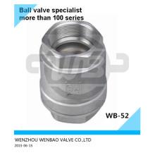304L BSPT primavera válvula de retención DN20 PN16 Precio