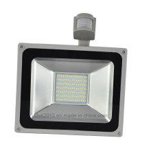 Luz impermeável exterior do ponto de inundação do projector do diodo emissor de luz do sensor de movimento SMD de 100W PIR