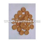 Dry chicken jerky circular chip