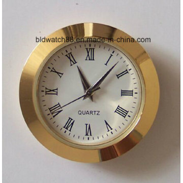 Customized Analog Quartz Alloy Metal Mini Clock Insert 27mm