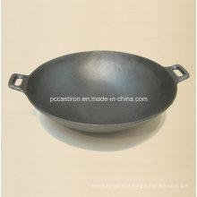 Preseasoned ferro fundido Wok Dia 30 centímetros Fábrica de China
