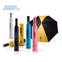 Fabricação China Popular Por Atacado Barato Criativo 21 Polegada Manual Garrafa Dobrável Umbrella Brindes Promocionais com Logotipo Imprime