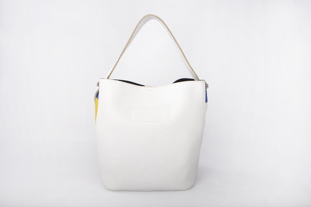 fashion patent leather women bucket bag