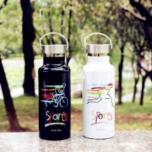 Botella de agua deportiva con aislamiento al vacío a prueba de fugas