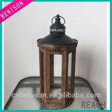 LED Outdoor Wood Lantern Wedding Favor