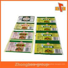 Guangzhou fabricant d'impression en gros et de matériel d'emballage imprimé personnalisé étiquette d'emballage de viande