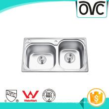 Chine Fournir en acier inoxydable petit évier de cuisine double Chine Approvisionner en acier inoxydable petit évier de cuisine double