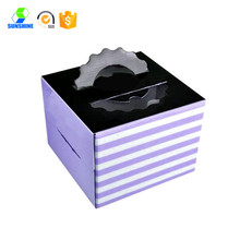 take away cake packaging box with handle