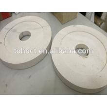 Aplicación industrial Placa trituradora de cerámica con orificio