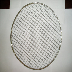 Stainless steel crimped barbecue grill wire mesh