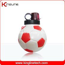 Пластмассовая бутылка воды спорта, пластичная спортивная бутылка, бутылка воды спортов 850ml (KL-6822)