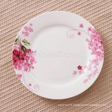 plain white ceramic dinner plate