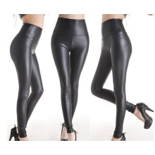 Fashion High Quality Women Leather Look Leggings (SR8207)