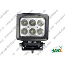 5 pulgadas 6PCS * 10W CREE 60W LED Luz antiniebla todoterreno Impermeable de alta potencia para camión (NSL-6006S-60W)