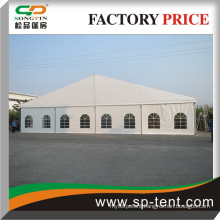middle ceremony event tent for big party with glass door
