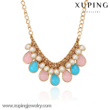 42547-Xuping Gold Necklace Designs Fashion Jewelry Hot Sales