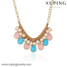 42547-Xuping Золото Ожерелье Конструкции Ювелирные Изделия Горячие Продажи