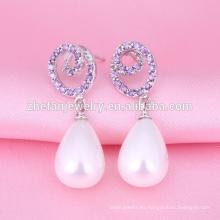 Pendientes de perlas 2018 diseños aretes de clip de oreja de china
