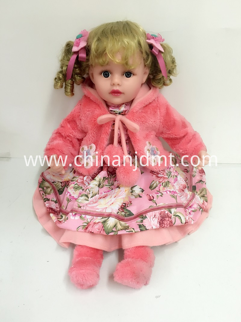 pink plush coat doll