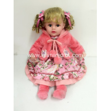 "22"" red pink all vinyl doll"
