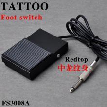 Pédale à pied carré en métal et tatouage