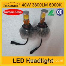 h4 50w led headlights head lamps bulbs 1800lm